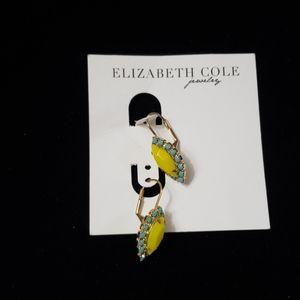 Elizabeth Cole leverback yellow earrings